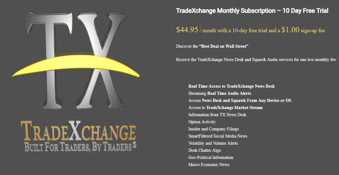 Trade Xchange Free 10 Day Trial