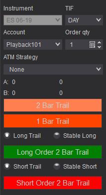 Chart Trader Buttons